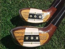 Persimmon Macgregor Jack Nicklaus Master Golf Clubs Woods Set 1 And 3 W New Grips