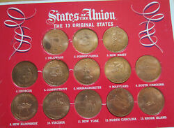 Us States Of The Union 13 States Collector's Coin Set K62r