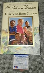 Hillary Rodham Clinton Signed It Takes A Village Book 1st Psadna Auth Ai29743