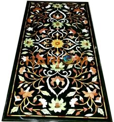 5and039x3and039 Marble Dining Table Marquetry Top Kitchen Dinner Handmade Inlay Arts B322