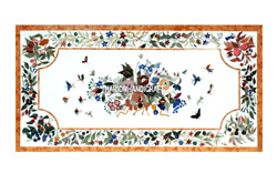 Marble Dining Room Modern Top Table Rare Gem Butterfly Arts Inlaid Decor H3015