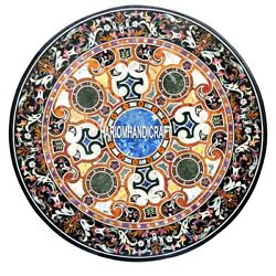 Marble Dining Top Table Exclusive Inlaid Intricate Arts Hallway Decorative H3939