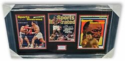 Muhammad Ali Signed Autographed Cut Framed With Sports Illustrated Covers Ga A2