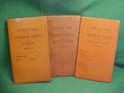 Very Rare Leather Bound Estimate Books Of Maurice Quinn Early Logging History
