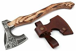 New Viking Hand Forged 1095 High Carbon Steel Blade Tomahawkhatchetcombat Axe