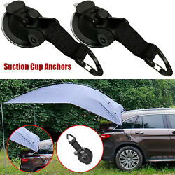 2x Car Tent Suction Cup Hook With Securing Hook Tents Tarp For Outdoor Camping