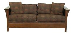 50902ec Stickley Mission Oak Arts And Crafts Style Sofa