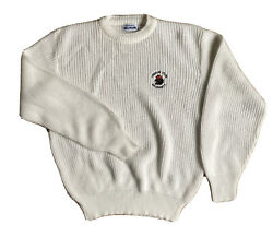 Vintage Oregon State Beavers Acrylic Knit Sweater By Brandon Made In Usa Medium