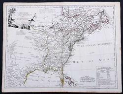 1785 De Vaugondy And Jefferson Antique 1st Map Of The United States Of America