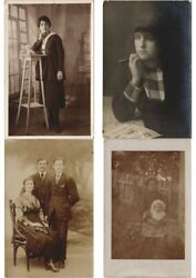 Real Photo People Mostly Persons 1500 Vintage Postcards Pre-1940 L3072