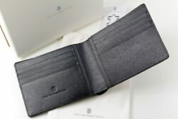 Earl From Faber Castell Wallet Credit Business Card Case Saffiano Leather New