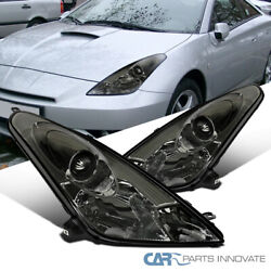For 00-05 Toyota Celica Smoke Projector Headlights Tinted Head Lamps Left+right