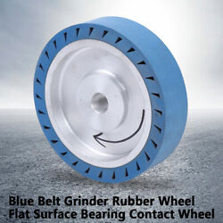 Blue And Silver Rubber Contact Wheel Flat Rubber Wheel For Belt Sander Grinder