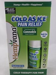 Hempvana Cold As Ice Cold Therapy For Pain Relief Roll On Gel