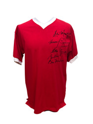Busby Babes Signed Manchester United 1958 Football Shirt Charlton Foulkes Proof