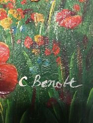 C. Benolt Oil Painting Original In Perfect Condition Without Frame
