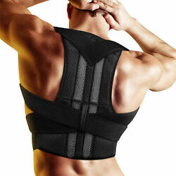 Adjustable Back Posture Corrector Support Brace Belt Shoulder For Women and Men $19.73