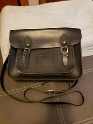 Cambridge satchel company black bag barely used. 11 inch medium size $79.00