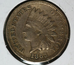Better Date 1863 Indian Cent Very Fine Condition Coin