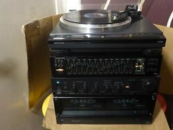 Vintage Onkyo Integra Stereo Components Power Amplifier Pre Amp Eq And Turntable