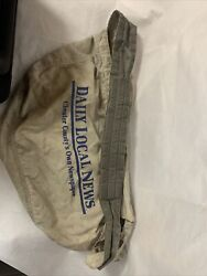Vintage The Daily Local News Newspaper Delivery Bag Canvas Paperboy Chester Pa