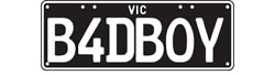 B4dboy Vic Number Heritage Style Plates