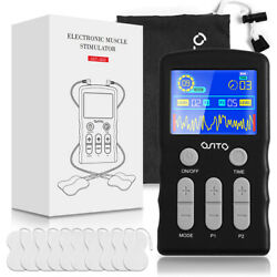 Dual Channel Tens Unit Machine Massager Pulse Muscle Stimulator Pain Therapy
