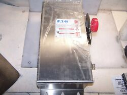 New Cutler Hammer 30 Amp Ss Fusible Safety Switch 600 Vac Nema 4x Dh361nwk