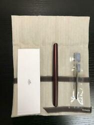 Hermes Ballpoint Pen Nautilus Rouge H Rare New Authentic From Japan