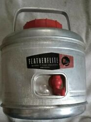 Poloron Featherflite Aluminum 1 Gallon Antique Thermos For Camping Or Fishing