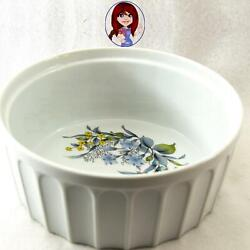 Nantucket Oven To Table Casserole Souffle Dish Rib Floral Design Mint Condition