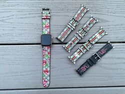 Apple watch band Handmade GG leather for I watch series SE654321 3840MM 4244MM $27.10