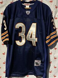 Chicago Bears Walter Payton Men L 50 Mitchell Ness Throwback Jersey A6523