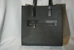 Michael Kors Signature Kenly Large NS Tote Black Crossbody Free Ship $149.97