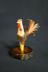 Collectible Hand Carved Branch Rooster Chicken Medium. Hand Carved.