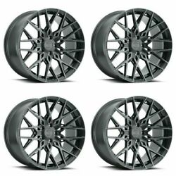 Set 4 20 Xo Luxury Phoenix 20x11 Gunmetal W/ Brushed Gunmetal Face 5x4.5 20mm