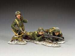 King And Country Bba089 Winter Machine Gun Group 1/30 Wwii Metal Toy Soldiers