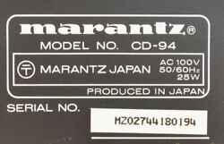 Marantz Cd-94 Limited Compact Disc Player Vintage Rare Tested Used From Japan