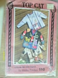 quot;Top Catquot; from Color Me Patterns by Shirley Fowlkes Sizes XS to XL