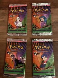 Pokemon Tcg First Edition Gym Challenge All Art 4 Packs Vintage New