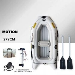 New Sports Kayak Inflatable Boat Thick Pvc 9' Boat With Paddle And Motor Fishing