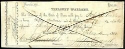 Texas C.s.a. State Treasurer Of Tw-33 50 Military 79q Feby 4 1862 Ic Netf