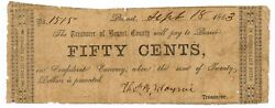 Texas C.s.a. State Burnet County Burnet M-unlisted 50 Cents Sept 18 1863 F Z
