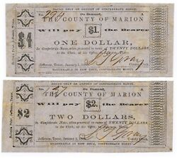 Texas C.s.a. State Marion County Jefferson M-10and11 1and2 Jan11865 F/vfandf/vf Z