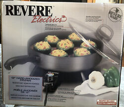"""Revere Ware Electrics 12"""" Hard-anodized Nonstick Electric Frypan Fry Pan New"""