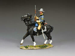 King And Country Cw110 Confederate Cav Cpl Holding Gun 1/30 Metal Toy Soldier