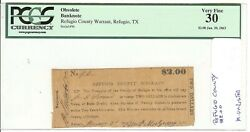Texas C.s.a. State Refugio County Refugio M-unlisted 2 Jan 2 And03963 Pcgs30 Vf Z