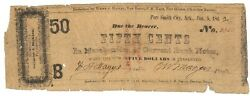 Texas C.s.a. State Alexander And Allen Sherman M-unlisted 50c B Jan 5 1862 F Z