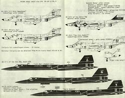 1/72 Micro Scale Decals 72-110 Rf-101 And Sr-71 Incomplete