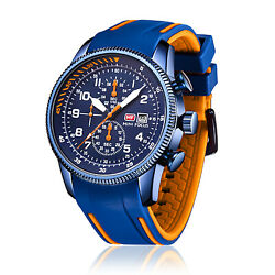 Menand039s Watch Reloj De Hombre Sports Style Silicone Rubber Watches Chronograph New
